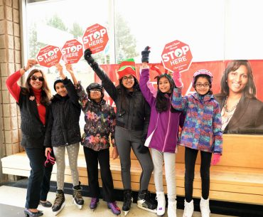 Indira Naidoo-Harris hosts Family Fun Skate