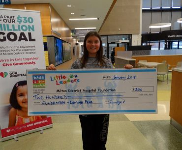 Milton District Hospital Foundation's Little Leaders Campaign